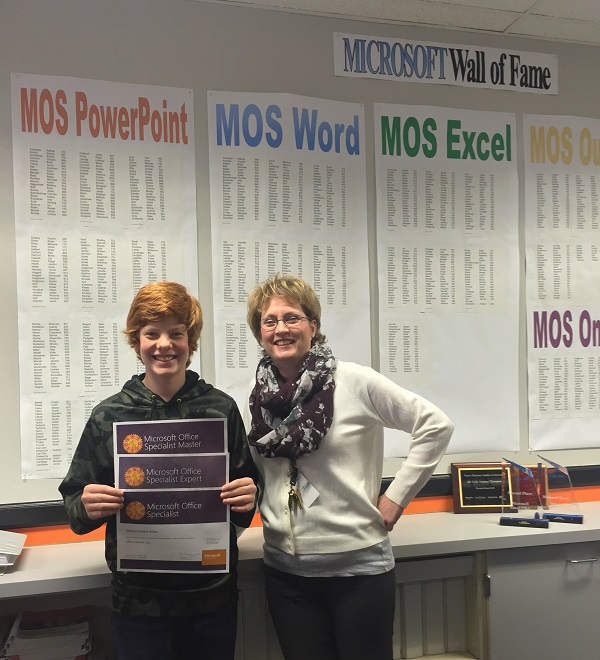 First Middle School Student To Become A Microsoft Office Word Master
